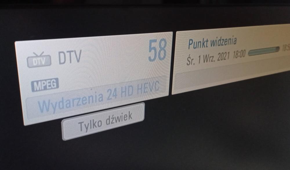 Wydarzenia 24 HD HEVC - tylko dźwięk